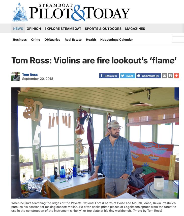 Idaho Violin Maker Prestwich Violins